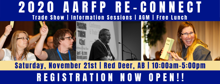 The AARFP will be holding a 2020 AGM with elections in Red Deer on November 21, 2020 at 1:30 pm.
