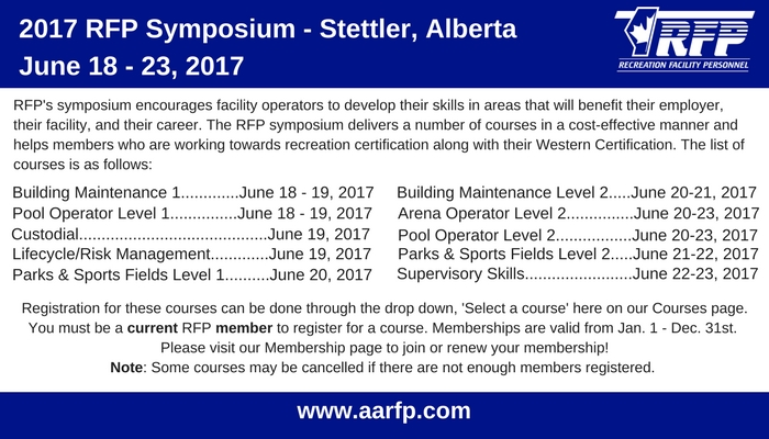 The RFP Symposium delivers a number of courses in one location, helping students achieve certification in recreation.