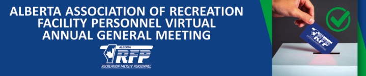 The AARFP's Re-Connect AGM will be held April 27, 2021.