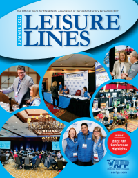 Leisure Lines is the official newsletter of the Alberta Association of Recreation Facility Personnel, published four times per year. To contribute articles, please contact the Editor at the AARFP office.
